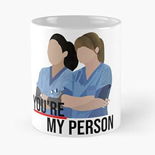 You're My Person - Taza de cerámica de mármol con texto en inglés 'La Meilleure Muerte', color blanco