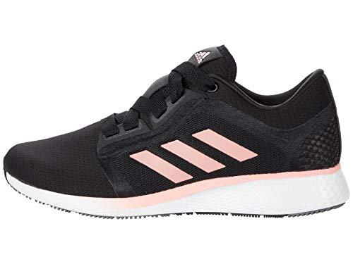 adidas womens Edge Lux 4 Running Shoe, Black/Glory Pink/White, 9.5 US