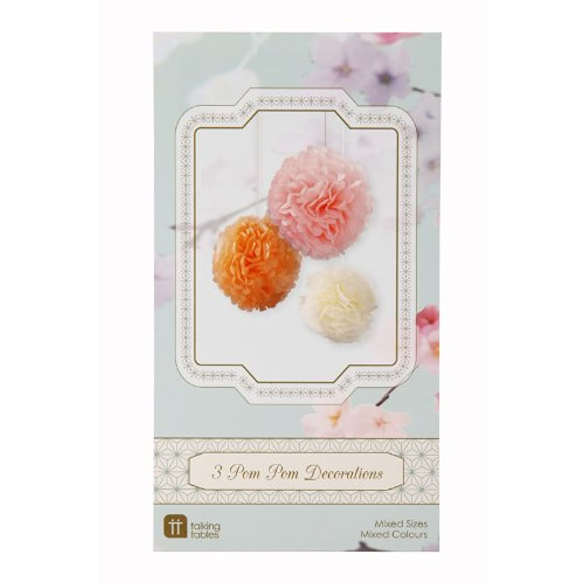 Pompoms Decadent Decs Mixed Pastel Pom Pom Bright Decorations