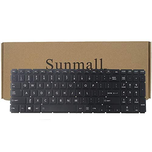 SUNMALL Backlight Keyboard Replacement Compatible with Toshiba Satellite Radius P55W-B P55W-c l50-b l55t-b5271 s55t-b5273nr l55d-b5364 p55w-c5200 p55w-b5318 p55w-c5200x p55w-b5112 p55w-b5220 Laptop