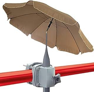 Kit 4smile – Parasol de balcon + Support parasol pour balcon SunnyBoy – 200cm Parasol balcon SunnyJoy avec fixation inclin...