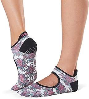 Toesox, Grip Pilates Barre Socks - Non-slip Bellarina Full Toe Yoga & Ballet Calcetines Mujer