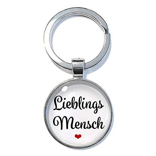 Lieblings Mensch ABOUKI handgefertigter Taschenanhänger Glücksbringer Geschenk-Idee Männer Frauen Liebes-Paar Freund Freundin Schlüsselanhänger 25mm