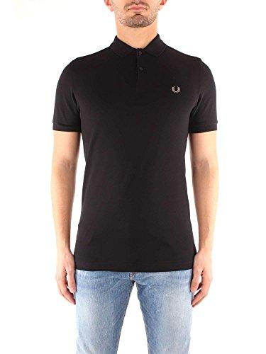 Fred Perry FP Plain Shirt Maglietta, Black/Chrome, S Uomo