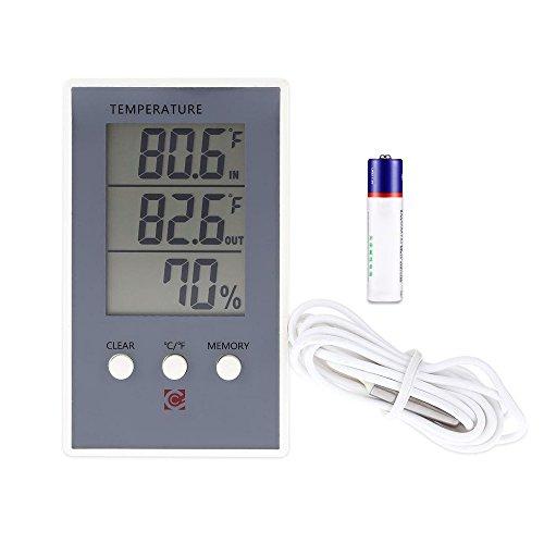 Mengshen Igrometro Termometro digitale, misuratore di umidità di temperatura interna ed esterna - TH06
