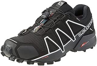 Salomon Men's Speedcross 4 GTX Trail Running Shoes, Black/Black/SILVER METALLIC-X, 11