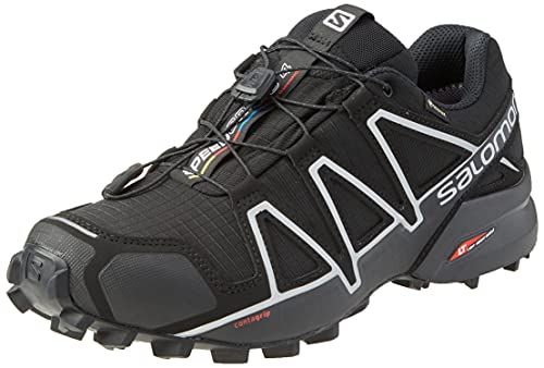 Salomon Speedcross 4 GTX Zapatillas Impermeables de Trail Running Hombre, Negro (Black/Black/Silver Metallic-X), 46 EU