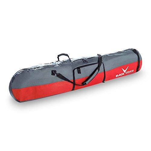 Black Crevice Bolsa de deporte Gstaad Snowboard Rojo / Gris, 170 x 26 x 8 cm, 35 Liter