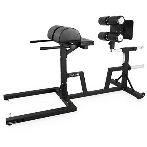 Valor Fitness CB-29 Adjustable Glute and Ham Developer (GHD) Ab Machine for Hip and Back Extensions and GHD Sit Ups – Includes Band Pegs and Olympic Plate Storage