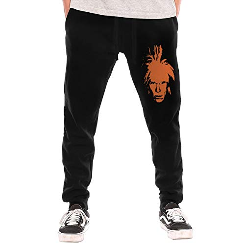 Andy Warhol Men's Fleece Sweatpant Workout Training Pants Black