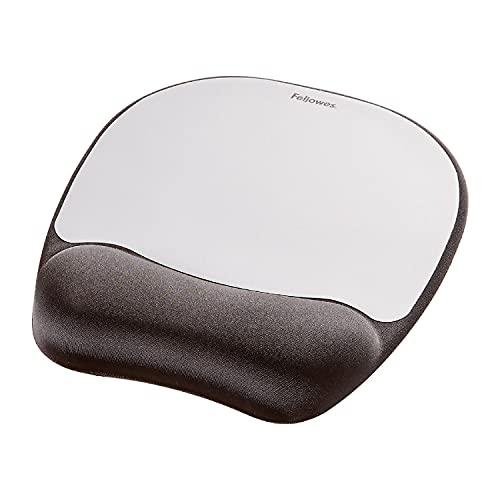tappetino mouse ergonomico Fellowes Mouse Pad con Poggiapolsi in Memory Foam