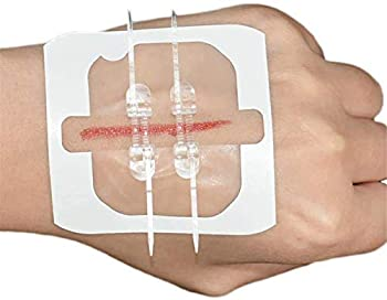 HHYSPA Band-Aid Zipper Suture-Free Band Aid,Emergency Wound Closures Surgical Quality Laceration Repair Without Stitches,Aid Zip Tie Wound Closure Camping Gear