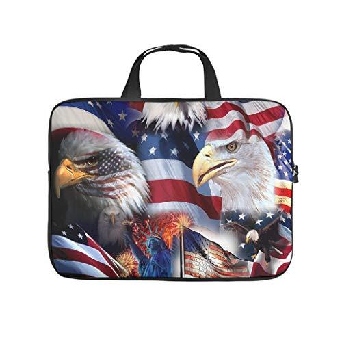 American Eagle - Bolsa para portátil resistente al agua con diseño de bandera estadounidense
