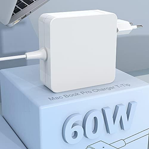 Compatible con Cargador Mac Book Pro de 60W 2 adaptadores, con Punta en T, Cargador para Mac Book Pro Retina de 13 Pulgadas y Mac Book Air (después de Finales de 2012), Funciona con 45 W / 60 W