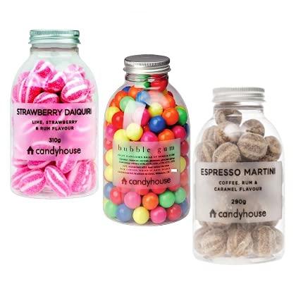 Caramelos mixtos Candyhouse y chicles surtidos con sabores de frutas - (Total 830 gramos)