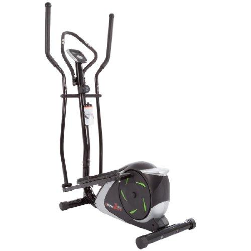 Ultrasport XT-Trainer 800A/700M, vélo elliptique pour la maison, avec capteurs de pulsations et 12 programmes différents, home trainer, appareil cardio, bouteille incluse, 104 x 49 x 133 cm
