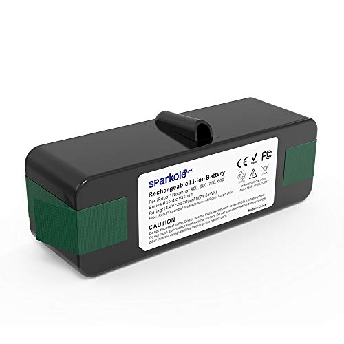 SPARKOLE 5200mAh Lithium Ion Replacement Battery for iRobot Roomba 960, 980, Compatible with Roomba 900, 800, 700, 600 Series 985/981/970/965/895/890/860/690/680/675/640/614 (2021 Upgraded)