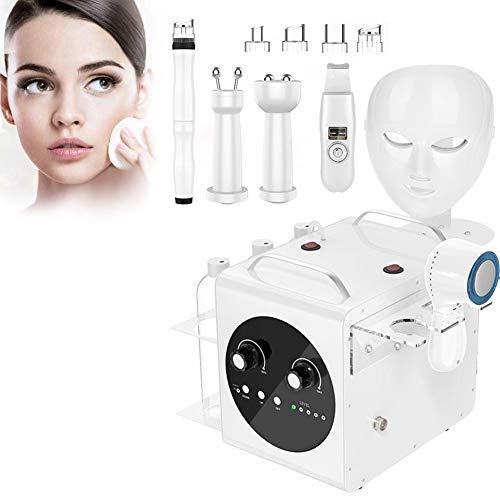 7 en 1 Ultrasonido Vacío Hydro Oxígeno Jet Lifting BIO Dispositivo de belleza con micro corriente Microcurrent Vacío Blackhead Remover Dermoabrasión Máquina, elimina las arrugas(EU)