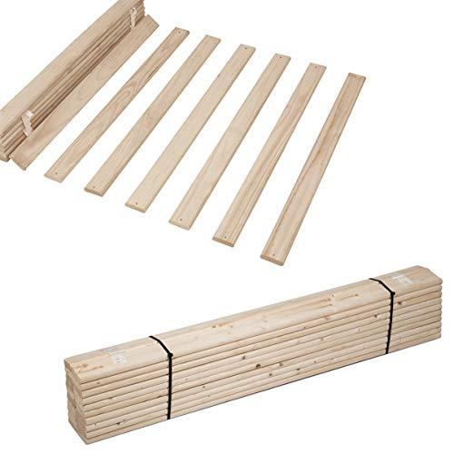 Helo Rolllattenrost Lattenrost Rollrost Holzlatten Bettrost Latten 11 Latten 120 x 200 cm (Basic A4)
