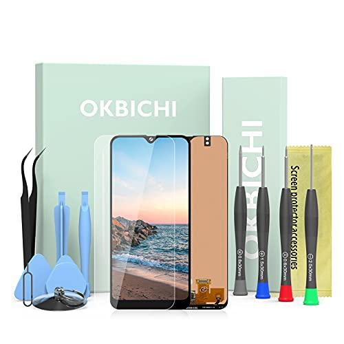 OKBICHI Pantalla LCD Táctil Asamblea Repuesto Compatible con Samsung Galaxy A50 2019 A505F/DS A505F A505FD A505A A505 Negro con Herramienta de Reemplazo y Protector de Pantalla