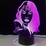 Film Supereroe 3D Lampada da tavolo, LED multicolore, USB sostituibile decorazione regalo