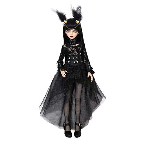 Teakpeak BJD Doll Puppen Set, BJD 1/4 Doll Gelenkig Bewegliche Puppe Makeup Doll mit Make-up Gesicht, Augen und schönen Kleidern, 41CM , Geschenk/Sammlung- Minifee Celine