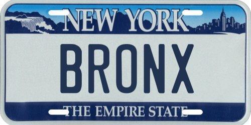 VINTAGE-PLATES The Bronx New York Aluminum License Plate