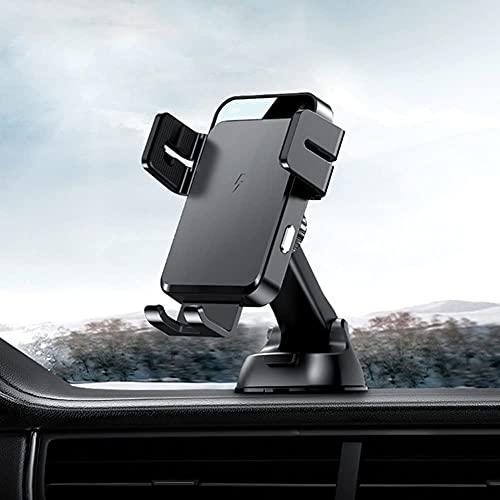 BAOZUPO Tenedor del teléfono del teléfono del Cargador inalámbrico de 15W, Soporte del teléfono del Cargador infrarrojo Inteligente Montaje de ventilación aérea (tamaño : UN)