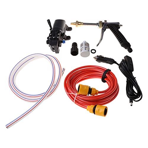 MIAOJI Pulverizador de Bomba, Kit de Lavado de Coches, 100W 160PSI 12V Limpiador de Lavadora de Coche de Alta presión Herramienta de pulverizador de Bomba de Lavado de Agua