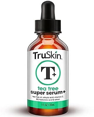 Tea Tree Clear Skin Serum, Age-Defying formula for breakout-prone skin with 20% Vitamin C, Retinol, Niacinamide, Salicylic Acid & Hyaluronic Acid for Blemish-Free, Soft, Radiant, Youthful Skin. 1oz