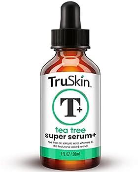 TruSkin Tea Tree Clear Skin Super Serum Formulated for Acne Treatment with Tea Tree Oil Vitamin C Salicylic Acid & Retinol 1fl oz