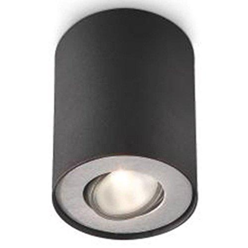 Preisvergleich Produktbild Philips Aufbauleuchte Pillar Single Spot,  Farbe: schwarz,  Leistung: 1 x 50 W,  230 V