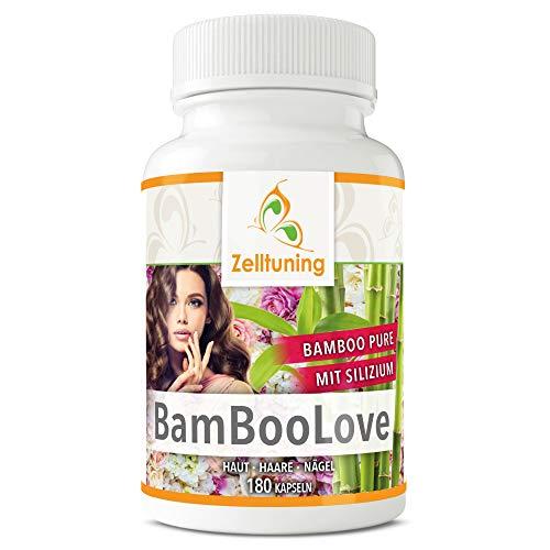 BAMBOO-LOVE® 400mg Silizium HOCHDOSIERT pro Tagesdosis Organisches Silizium aus Bambusextrakt Pure Vegan Rein 180 Silicium Kapseln von Zelltuning