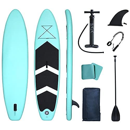 Tabla de Stand Up Paddle Surf Inflable de 10'6'× 30' × 6'con Cubierta Antideslizante de Primera Calidad, Mochila de Viaje, Remo Ajustable, Bomba, ultraligeros para jóvenes y Adultos ISUP