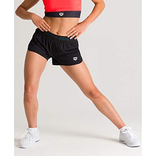 ARENA Side Vents - Pantalones Cortos para Mujer, Mujer, Corto, 003006, Negro, Small