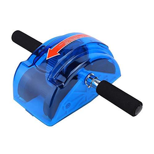 Ab Roller Wheel für Bauchmuskeltraining, ABS Ab Four Roller Wheel Bauchmuskeltrainer Fitnessstudio Fitnessgeräte mit Ausrüstung(Blau)