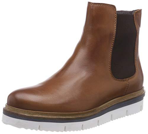 Bianco Damen Cleated Chelsea Boots, Braun (Cognac 240), 39 EU