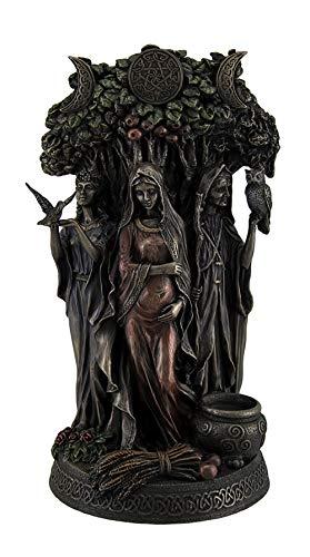 Resin Statues Danu Irish Triple Goddess of The Tuatha De Danann Bronze Finish Statue 6 X 10.5 X 5 Inches Bronze