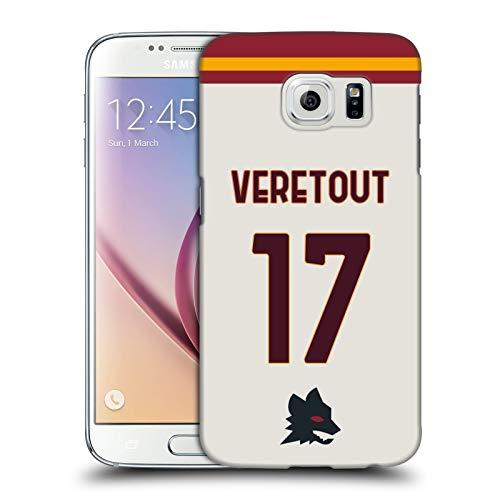 Head Case Designs Licenza Ufficiale AS Roma Jordan Veretout 2020/21 Giocatori Away Kit Gruppo 1 Cover Dura per Parte Posteriore Compatibile con Samsung Galaxy S6