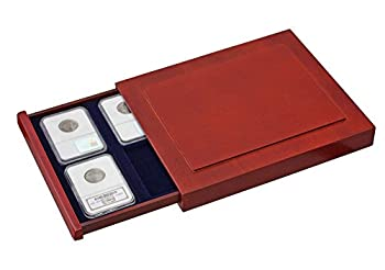 SAFE 6873 Nova EXQUISITE Wooden Coin Box Compact for 6 Coins original US Slabs for certified coin holders