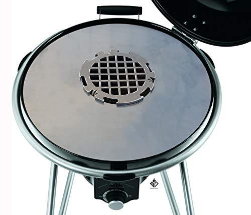Becker Design 6mm Feuerplatte | Plancha | Grillplatte für 60er Kugelgrill + Branding Grillrost