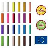 Creative Deco Set de Plastilina para Modelar para Niños | 24 Colores | 1600g | 120 Unidades | Nunca se Seca | Regalo Actividad Creativa y Educativa | Suave, Segura y No Tóxica