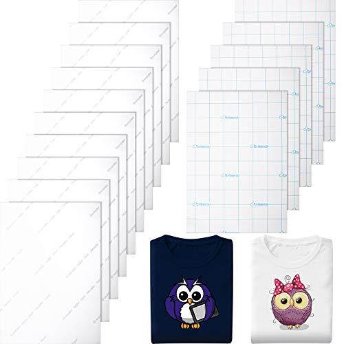 15 Stücke Hitze T-Shirt Transferpapier für Dunkle und Helle Textilien Stoff Druck Umdruck Papier Tintenstrahl Drucker Eisen auf HTV für Tasche Zubehör, A4 Größe