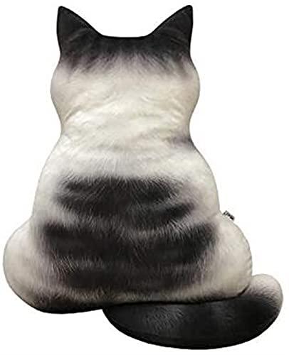 FIOXOO Deko-Kissen, niedlich, mit Haltung, Rückansicht auf der Rückseite, für Smoking-Katze, Kaliko-Katze, Orange getigerte Katze, 17 Stück