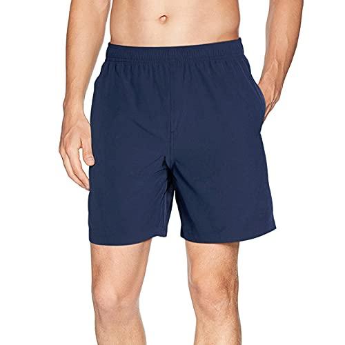 Goodstoworld Herren Kurze Sporthose Shorts Bermudas Trainingshose Fußballhose Fitnesshose Short Hose Sweathose Stretch Freizeithose Street Style Blau Schwarz M
