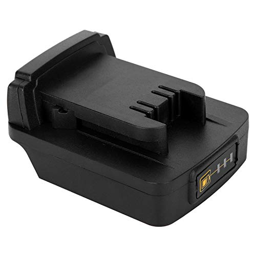 Annadue Black Battery Adapter Built‑in PCBA (for Makita Lithium‑ion Battery to for MILWAUKEE M18 battery), for Makita 18V BL1830 / BL1840 / BL1850 / BL1860 Li‑ion Battery.