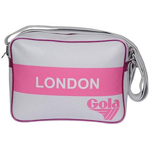 Borsa Tracolla Donna Bianco/ Fucsia/ Rosa Gola Bag Woman Didi Redford Metallic Stripe White/ Fucsia/ Pink CUB 392