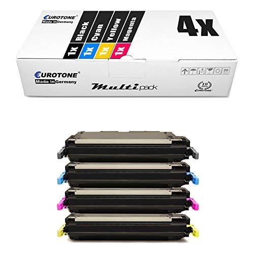 4X Eurotone kompatibler Toner für HP Color Laserjet 3600 DN N ersetzt Q6470A-73A 502A 501A