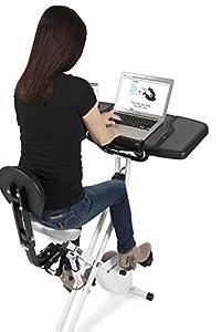 FitDesk v3.0 Desk Bike with Extension Kit, White