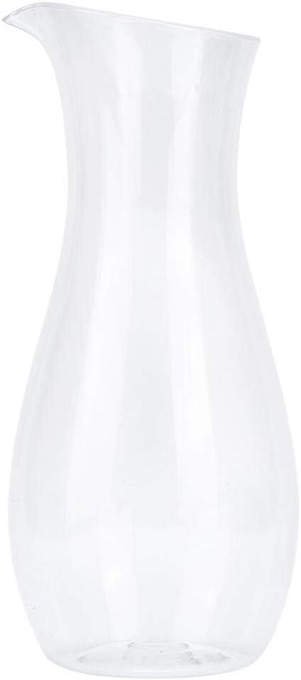 Fdit Botella de Jugo Transparente Jarra de Agua acrílica Contenedor de Bebidas de Vino Jarra de Jugo Jarra Jarra para Bar Hogar(1100cc)